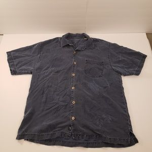 Tommy Bahama 100% Silk Button Up Short Sleeve L